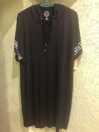 Платье оригинал  с капюшоном фирмы michael kors 3xl