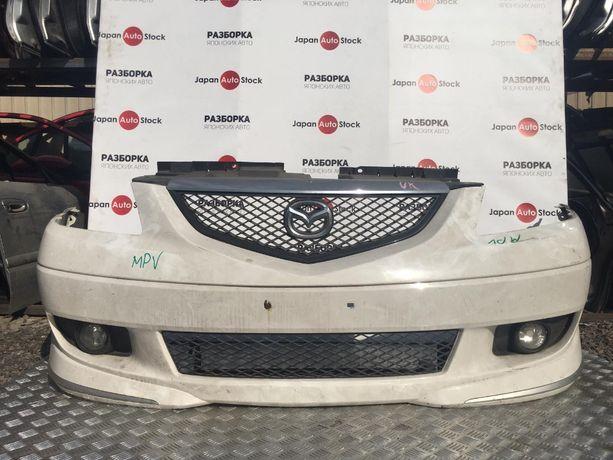 Бампер передний Mazda MPV в сборе, год 1999-2003
