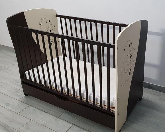 Łóżeczko dziecięce z szufladą 120x60cm