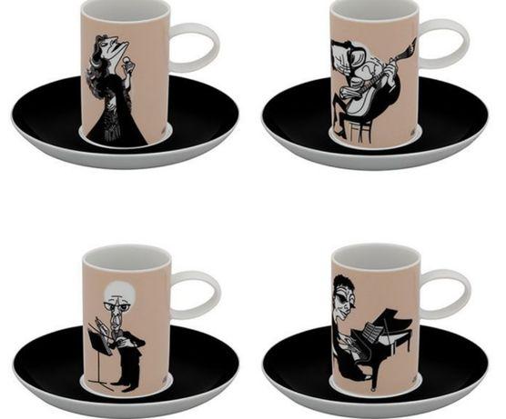 Set de 4 Chávenas de Café Vista Alegre