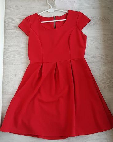 Czerwona sukienka M/ może być ciazowa