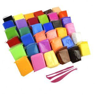 Воздушный пластилин, тесто для лепки, 36 цветов