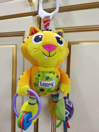Lamaze, развивающая игрушка, погремушка, подвеска, тигр