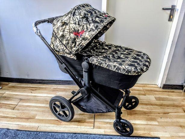 Wózek Cybex Priam Butterfly 2w1 Stelaż Czarny Spacerówka Lux Gondola
