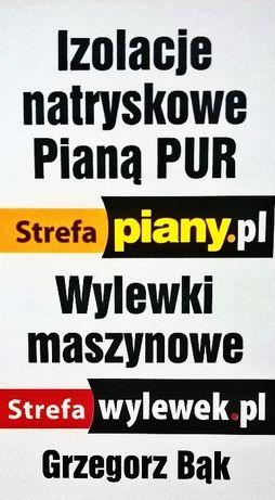 Ocieplenie poddasza pianą PUR, piana, WYLEWKI pianka Warszawa