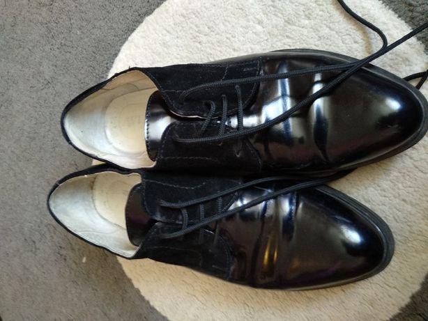 Ботинки кожа, замш, размер 39 полномерки