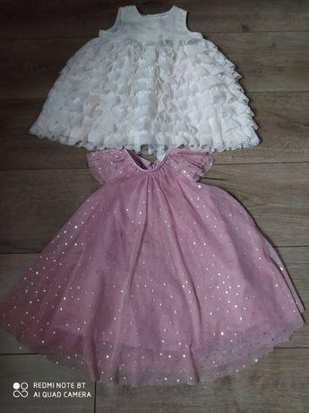 Dwie sukienki dla dziewczynki roz 86