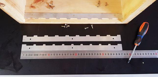 Listwy pozycjonujące ramki w korpusach podkarmiaczki odsklepiacz