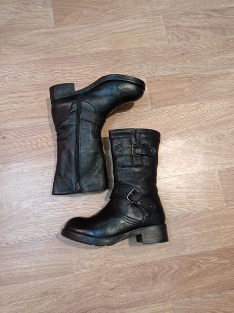 38р Бомбезные ботинки кожа