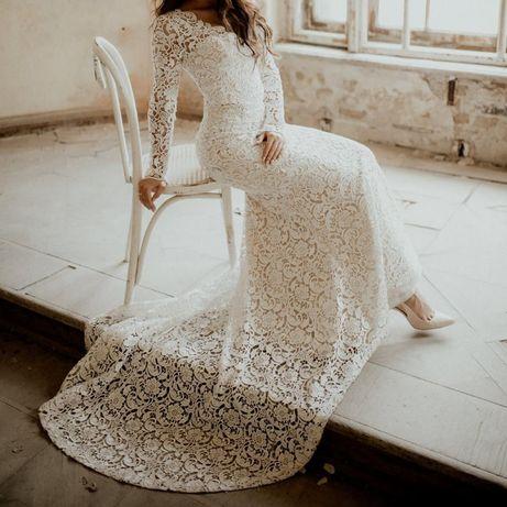 Suknia ślubna koronkowa rybka włoska LANESTA ANABEL