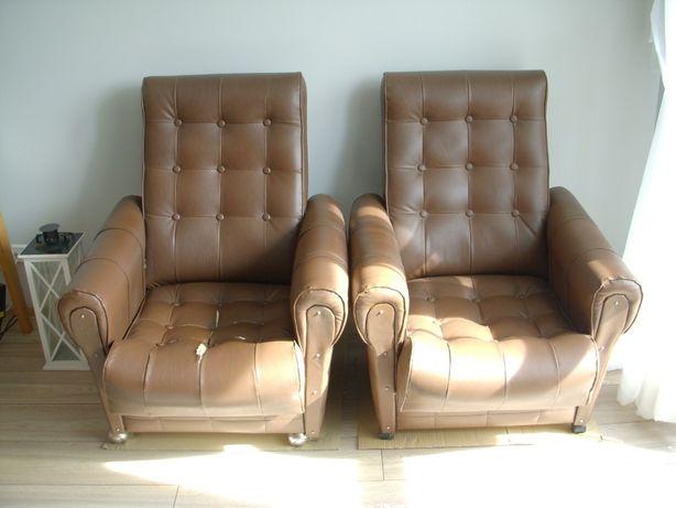 Fotele pokojowe w kolorze ciemny brąz 2 sztuki