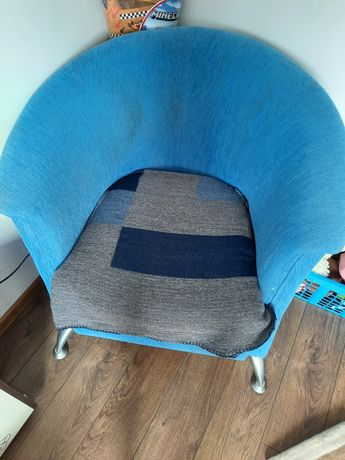 Fotel niebieski duży