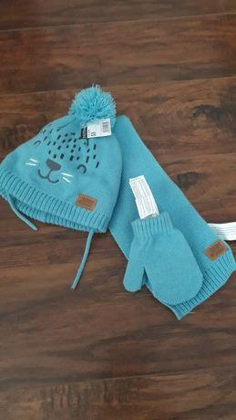 Дитяча шапка шарф рукавички