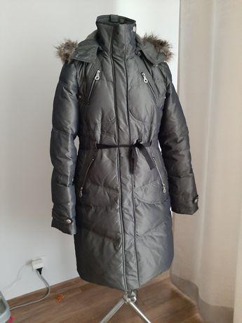 Płaszcz, kurtka damska zimowa. Puchowa. Next. 40/42