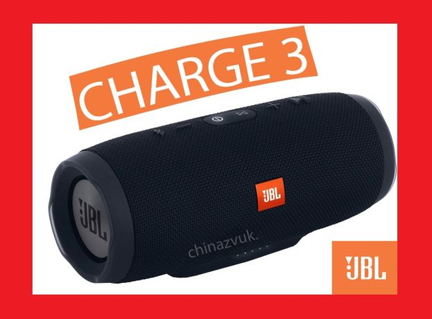 Charge 3 JBL/ Большая блютуз колонка / AUX /USB /microSD+ power bank