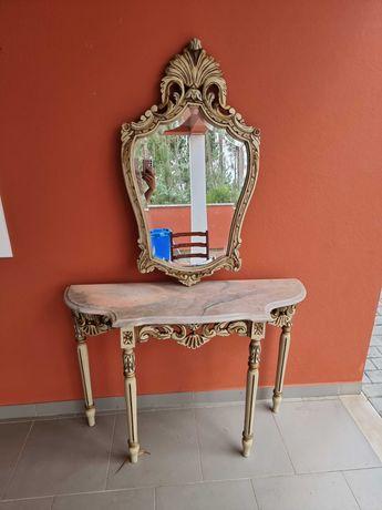 Mesa de Mármore com Espelho