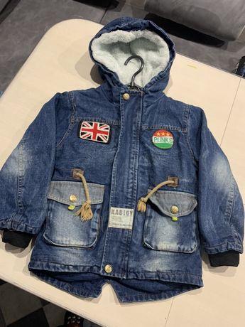 Джинсовая парка,куртка еврозима на мальчика на 5-6лет!