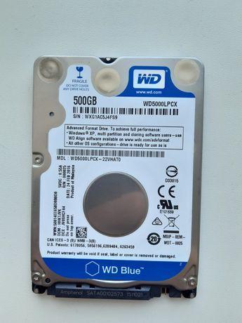 HDD Жесткий диск Western Digital Blue 500GB для ноутбуков