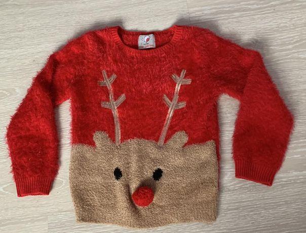 Новогодний свитер на девочку 6 лет