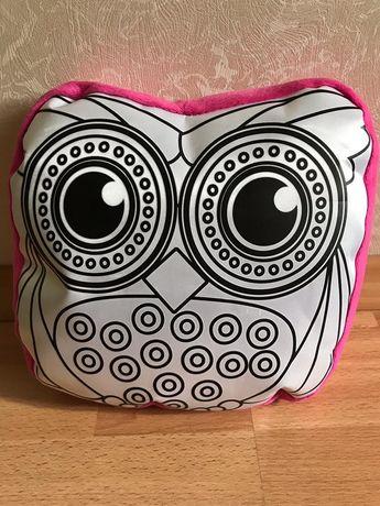 Подушка-игрушка-раскраска сова
