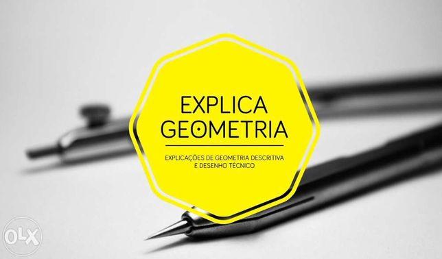 Explicações de Geometria Descritiva em Guimarães .