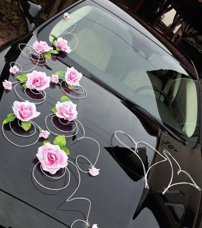 Ozdoba ślubna na auto