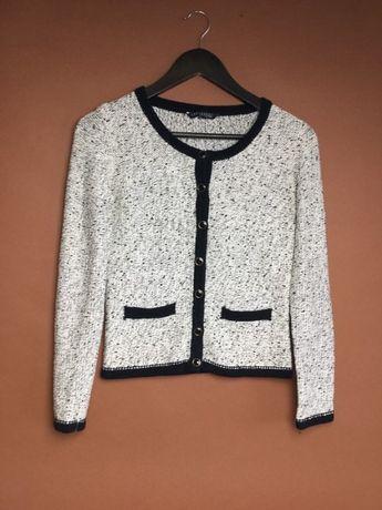 sweter top secret r. 34 XS kardigan rozpinany guziki a la chanel