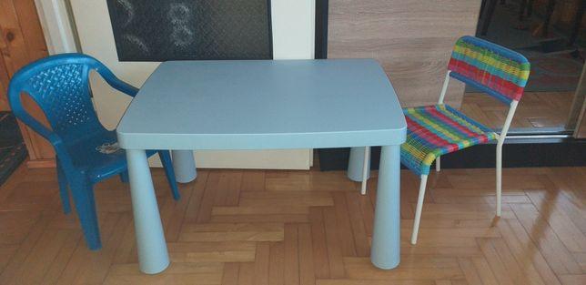 Zmywalny stolik + krzesełka dla dzieci IKEA
