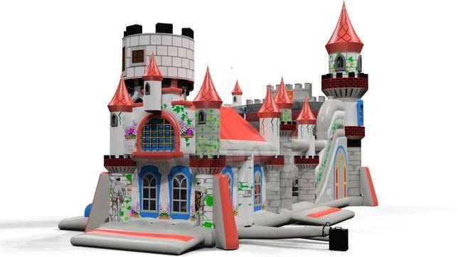 Dmuchana zjeżdżalnia, zamek, miotła, plac zabaw Forteca