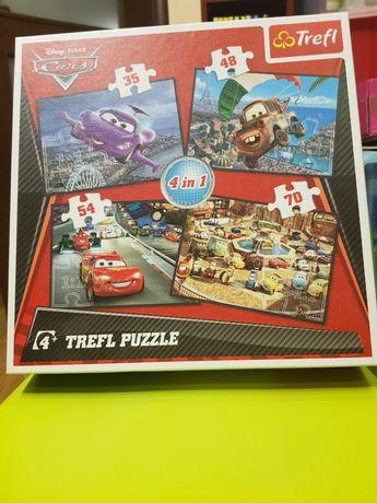 Puzzle Trefl. 4 w 1. Auta.