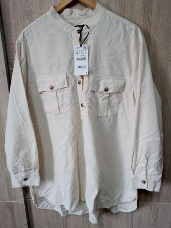 Koszula sztruksowa Zara XL