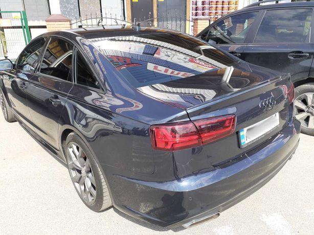 Спойлер Audi A6 C7 тюнинг тонкая сабля Ауди А6 С7 черная