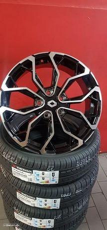 Jantes 17 novas Renault Megane GT Line Pretas Polidas com pneus usados