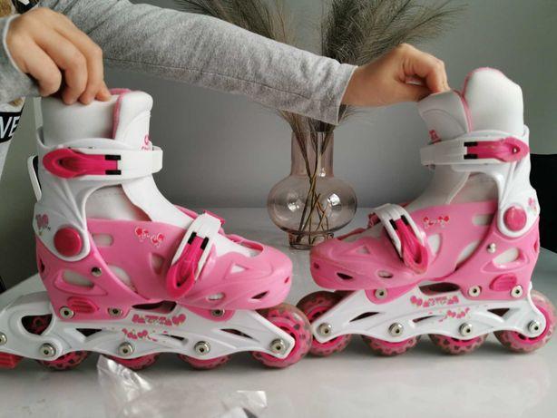 Rolki dla dziewczynki Wrotki - 3w1 Croxer Happy 29-32 różowe