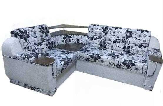 """Угловой диван """"Меркурий"""". В НАЛИЧИИ. Кровати Днепр. Серый/коричневый."""