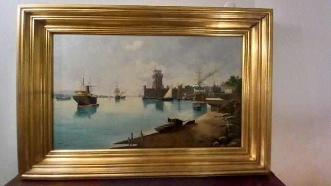Pintura – Marinha, óleo sobre tela