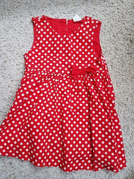 Sukienka czerwona h&m r 80