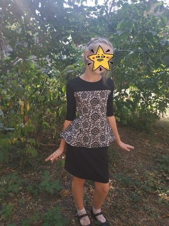 Блузка+юбка школьная, нарядная