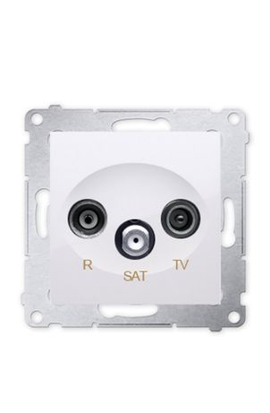 Simon 54 Gniazdo antenowe R,TV-SAT białe