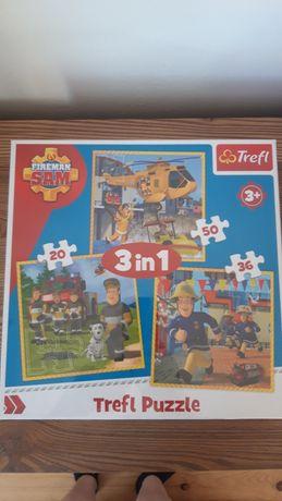 Układanka strażak sam Puzzle 3w1 dla dzieci