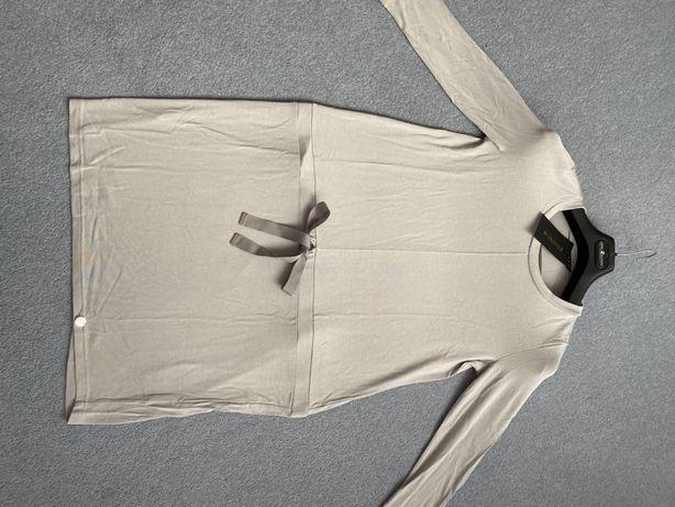 sukienka nowa letnia wiosna M z wiązanie szara srebrna kokarda wstążka