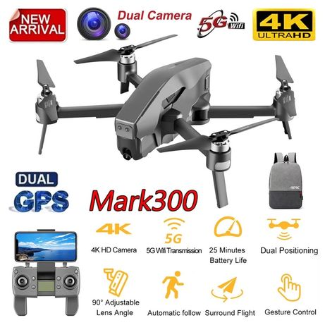 Квадрокоптер Mark 300 дрон с 4K 5G Wifi GPS Дистанция 1600м 30 минут