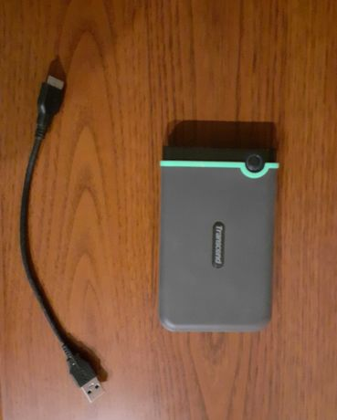 Жорсткий диск зовнішній Transcend StoreJet 1TB USB 3.1 Iron Gray Slim