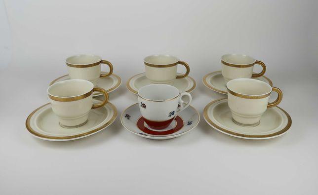 6 Chávenas de Café Vista Alegre e Candal