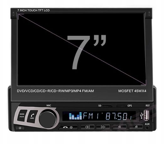 Radio z automatycznie wysuwanym ekranem 7 cali + dotyk