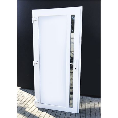 NOWE Drzwi zewnętrzne WZMOCNIONE wejściowe kolor biały