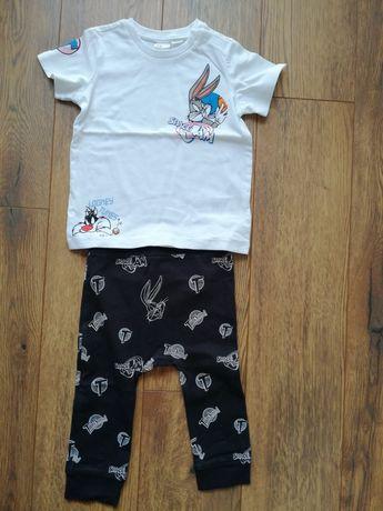 Komplet niemowlęcy H&M t-shirt legginsy r. 80