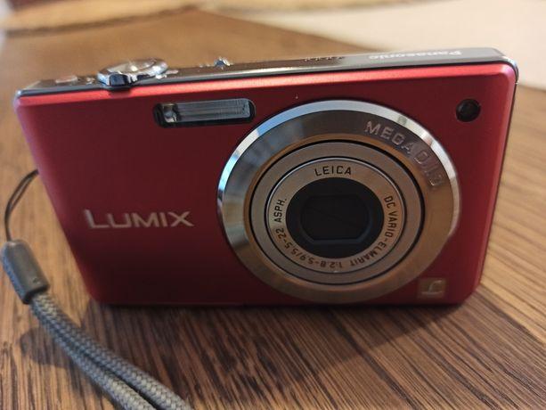 Aparat Panasonic Lumix DMC F56, czerwony, kompaktowy, damski, zgrabny
