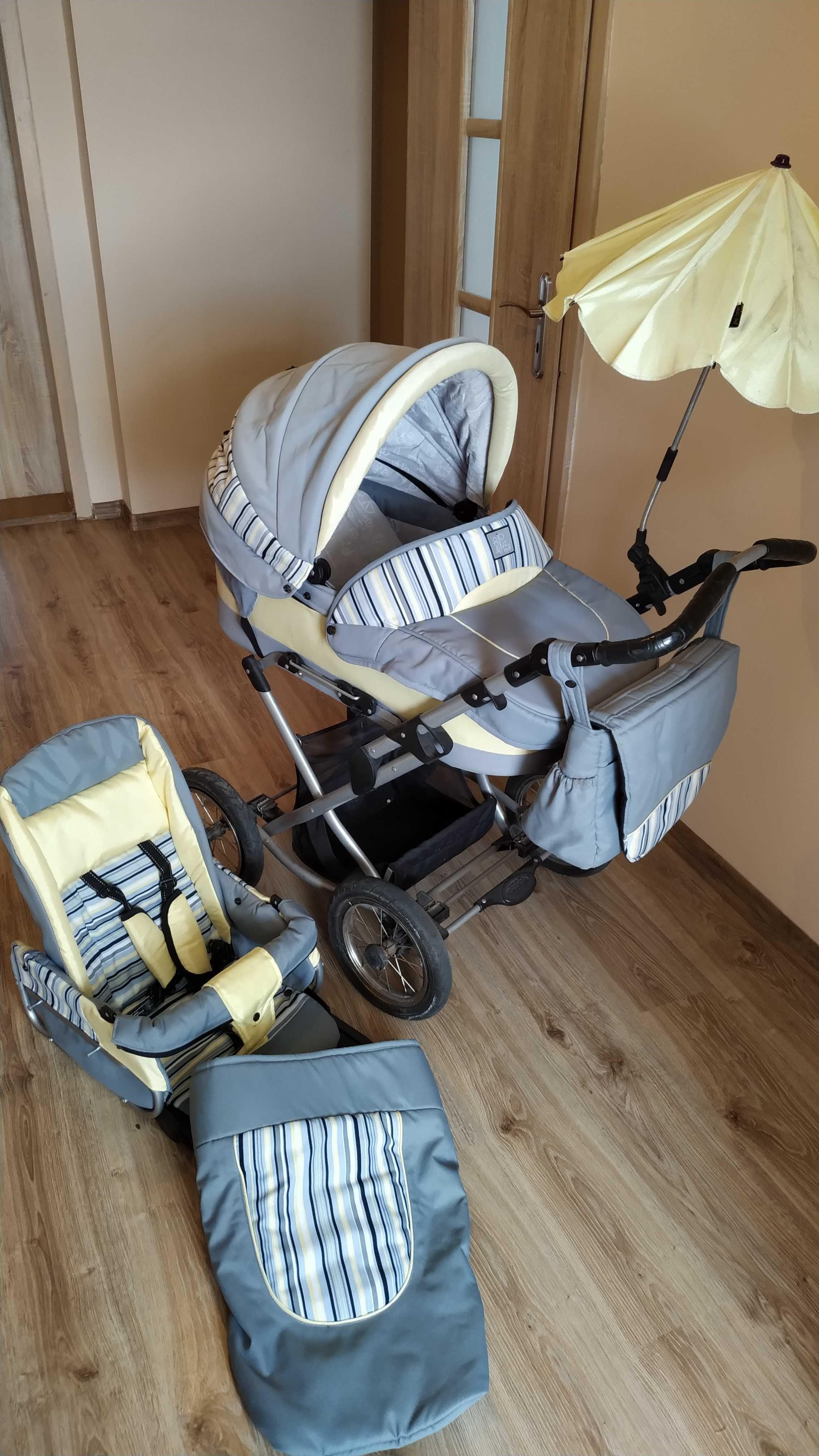 Wózek dziecięcy Jedo Bartatina - gondola ze spacerówką