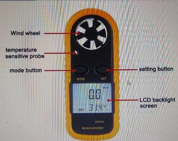 anemometro. para medir vento